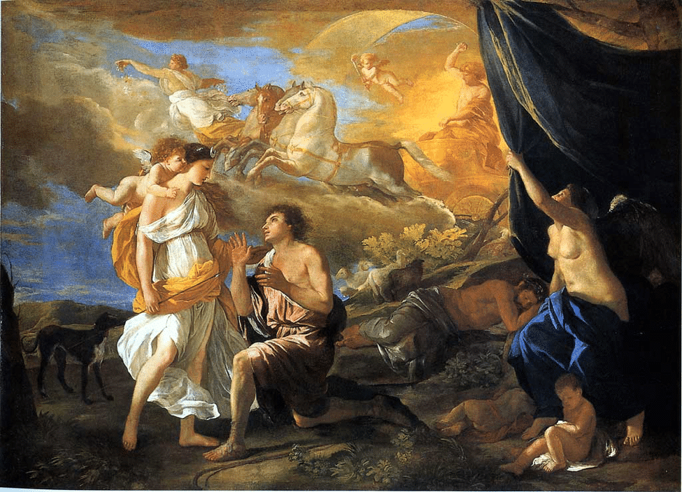 Selene y Endimión, Nicolás Poussin (1630).