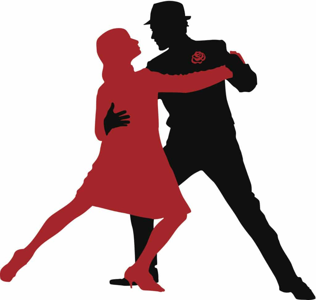 Tango dancers vector illustration